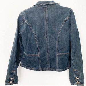 French Cuff Jackets & Coats - French Cuff Womens Denim Jacket 100% Cotton Dark